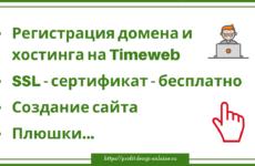 Регистрация домена и хостинга на Timeweb